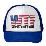 Divertido el 4 de julio, onda de WTF la bandera Gorro