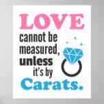 Divertido, el amor no se puede medir, anillo de di impresiones
