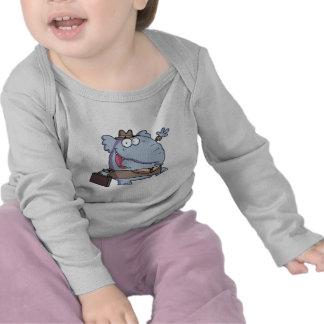 Divertido-Elefante-con-cartera Camiseta