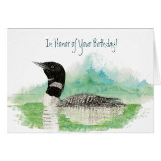 Divertido, en honor de su cumpleaños, pescando al tarjeta de felicitación