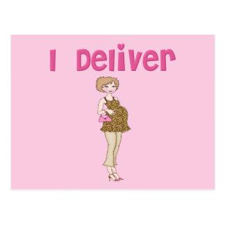 Divertido entrego embarazo postales