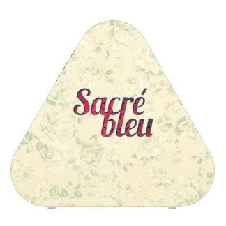 Divertido francés cruzado oscuro floral de Sacre Altavoz Bluetooth
