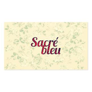 Divertido francés cruzado oscuro floral de Sacre Tarjetas De Visita
