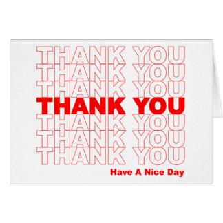 Divertido gracias diseñar tarjeta de felicitación