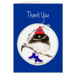 Divertido, gracias, pájaro del deporte del patinaj tarjetón