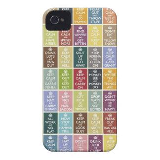 Divertido guarde calma carcasa para iPhone 4 de Case-Mate