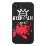 Divertido guarde el iphone tranquilo 4 casos iPhone 4 cárcasa