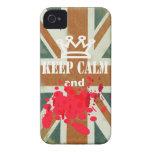 Divertido guarde el iphone tranquilo 4 cubiertas iPhone 4 Case-Mate cárcasas