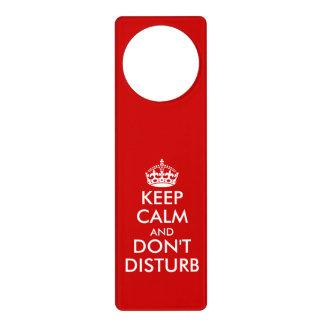Divertido guarde la calma no perturban colgadores para puertas