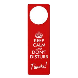 Divertido guarde la calma no perturban por favor colgador para puerta