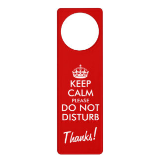 Divertido guarde la calma no perturban por favor colgantes para puertas