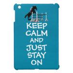 Divertido guarde la calma y apenas permanezca en c iPad mini protector