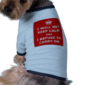 Divertido guarde la calma y continúe camisetas mascota