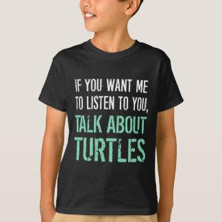 Divertido hable de la camiseta de las tortugas