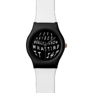 Divertido hace cualquiera saben realmente que reloj