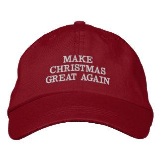 Divertido haga navidad los grandes otra vez gorras gorra de beisbol bordada