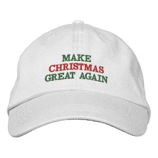 Divertido haga navidad los grandes otra vez gorras gorro bordado