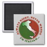 Divertido italiano obstinado imán de frigorífico