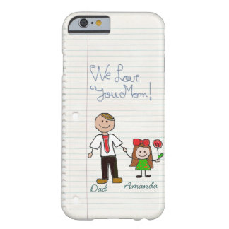 divertido le amamos mamá, AMOR, caso de IPhone 6 Funda De iPhone 6 Barely There