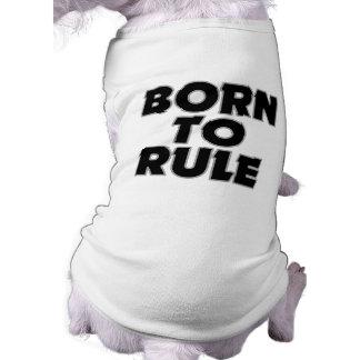 Divertido llevado al regalo de la regla playera sin mangas para perro