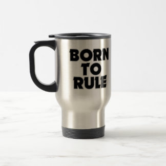 Divertido llevado al regalo de la regla taza de viaje de acero inoxidable