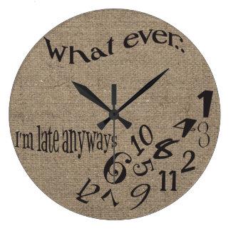 Divertido lo que soy último reloj de la arpillera
