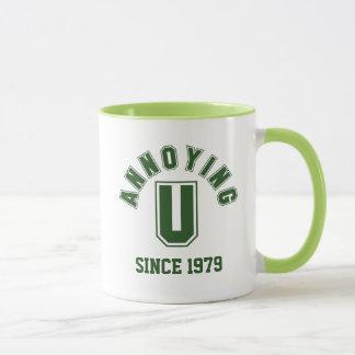 Divertido molestándole taza, verde