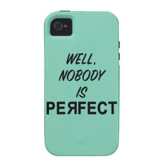 Divertido nadie es regalo perfecto Case-Mate iPhone 4 funda