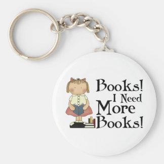 Divertido necesito más camiseta de los libros llaveros