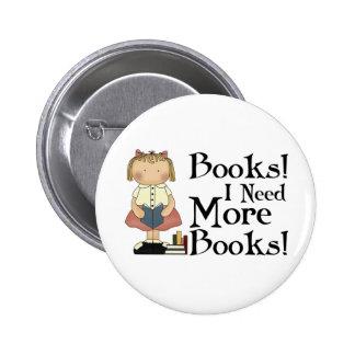 Divertido necesito más regalo de los libros pin