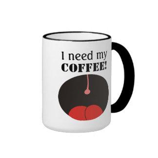 ¡Divertido necesito mi café! Tazas de Coffe