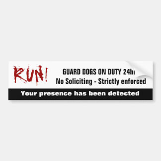 Divertido ninguna advertencia de servicio solicita etiqueta de parachoque