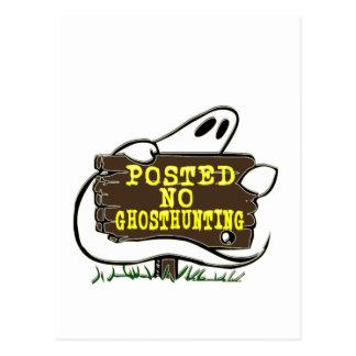 Divertido ninguna muestra de la caza del fantasma tarjeta postal