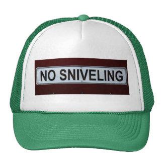 Divertido ninguna muestra del Sniveling Gorras