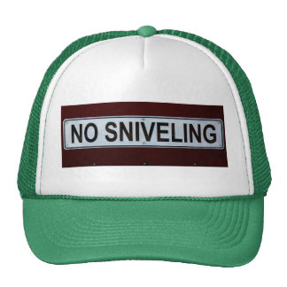 Divertido ninguna muestra del Sniveling Gorros Bordados