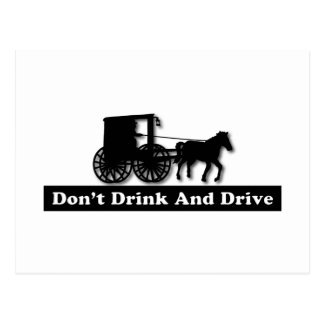 Divertido no beba y no conduzca tarjetas postales