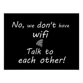 Divertido no tenemos poster del wifi - negro