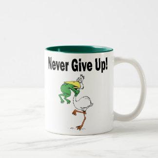 Divertido nunca dé para arriba la taza