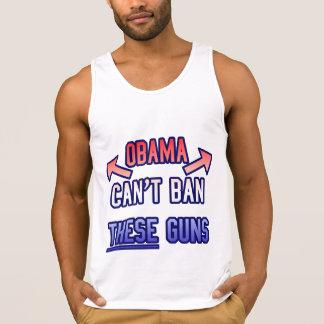 Divertido - Obama no puede prohibir estos armas Playera De Tirantes