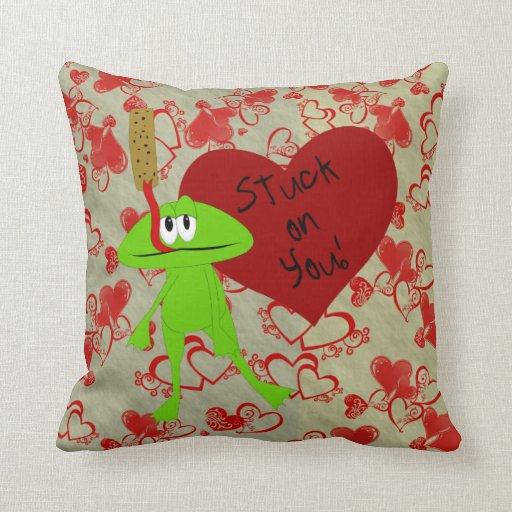 Divertido pegado en usted la almohada de la rana