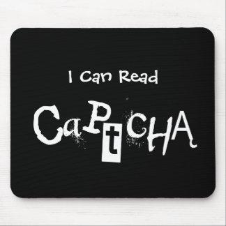Divertido puedo leer Captcha en blanco y negro Alfombrillas De Ratones