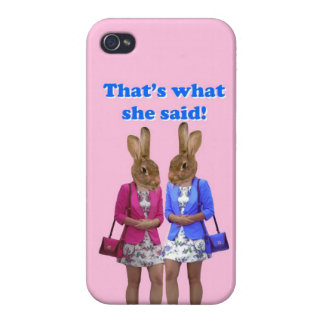 Divertido que es lo que ella dijo el texto iPhone 4 cárcasa