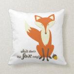 Divertido qué hace el Fox para decir la almohada d