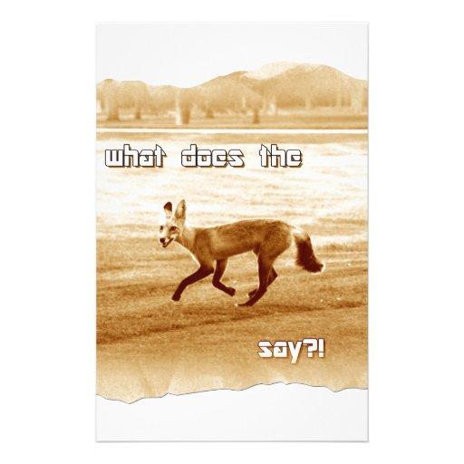 divertido qué hace el zorro diga papeleria de diseño