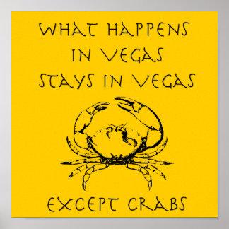 Divertido qué sucede en posters de los cangrejos d