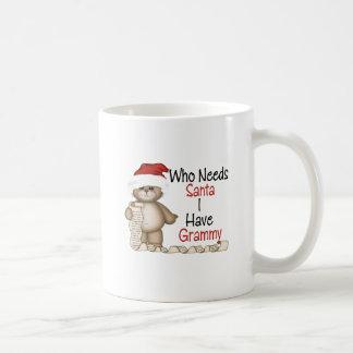 Divertido quién necesita a Santa Grammy Taza De Café