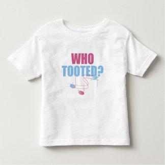 Divertido quién Tooted la camiseta del niño de la
