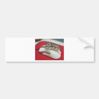 divertido-ratón etiqueta de parachoque