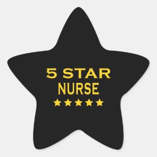 Divertido refresque a las enfermeras: Enfermera de Pegatina En Forma De Estrella