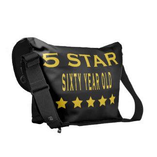 Divertido refresque la 60 a estrella de los cumple bolsa de mensajeria